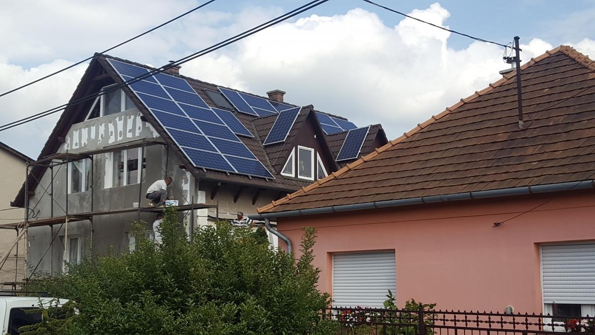 7,8 kW Bauer panelek, és Solaredge inverter