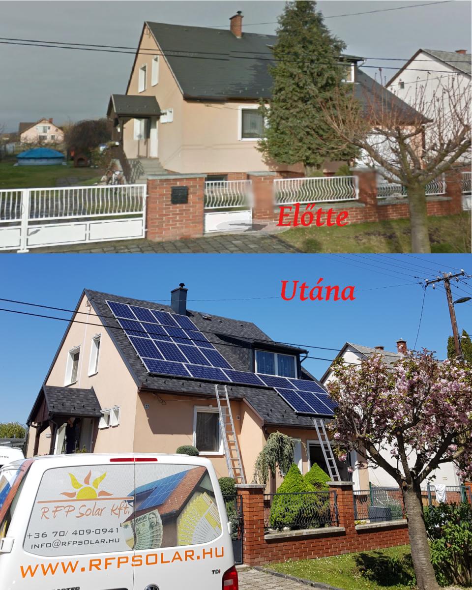 Német Bauer Panelek, Solaredge inverterrel, és panelenkénti optimalizálással.