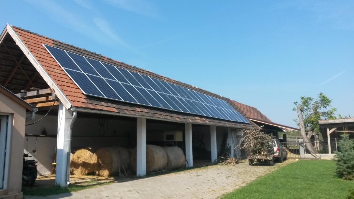 10,4 kW Bauer panelek, és ABB inverter